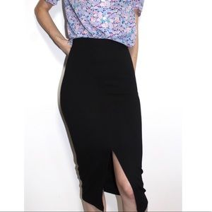 Wilfred black pencil skirt